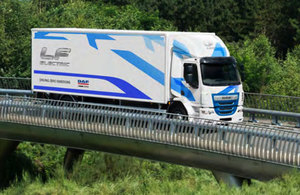 Electric truck from https://www.gov.uk/government/news/road-freight-goes-green-with-20-million-funding-boost