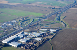 aerial view of A14