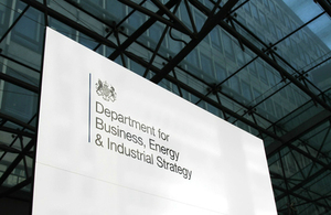 Department for Business, Energy & Industrial Strategy  sign