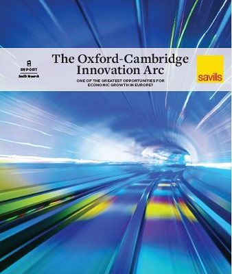 Cover of Savills report: The Oxford-Cambridge Arc