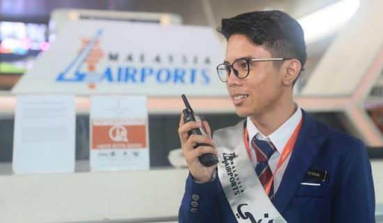 Sepura's SC21 TETRA radio in operation at Kuala Lumpur International Airport.