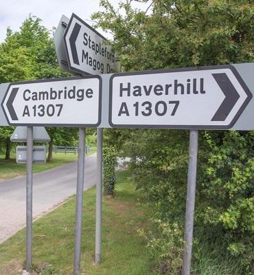 signposts at A1307