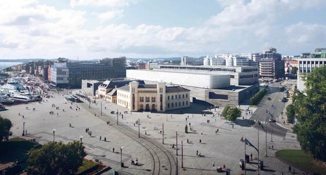 The site of the new Norwegian National Museum, due to open in 2021.