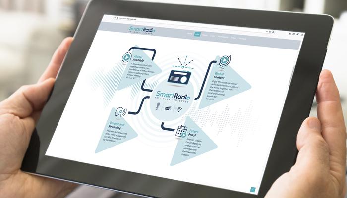 Smart Radio inforgaphic on a tablet