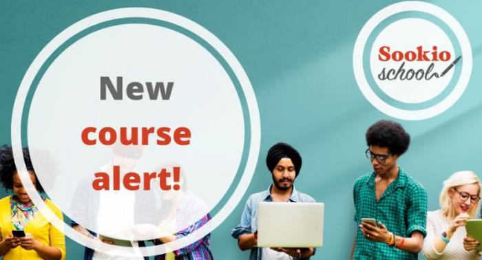 Sookio School new course alert banner