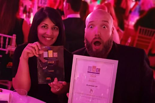 Sookio wins Website of the Year in SME Cambs Business Awards 2019