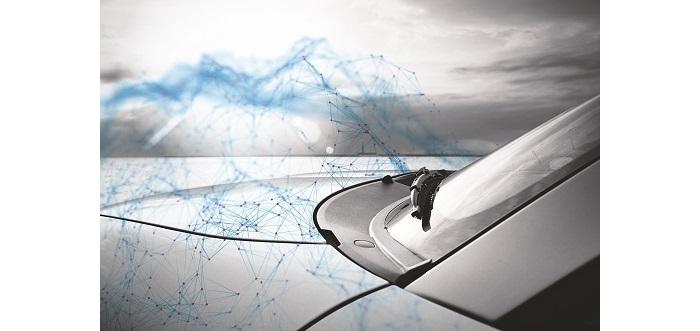 windscreen and bonnet of a car