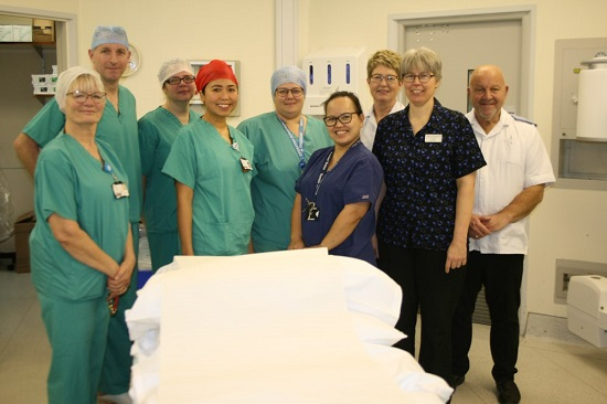 Some of the staff at the Day Surgery Unit at Ely.
