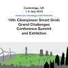 banner: 10th anniversary Cleanpower Smart Grids 2019 on 1-2 July in Cambridge