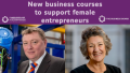 Austen Adams, chair of the Business Board, and Bev Hurley CBE