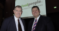 At the recent Global Food Trends event, left to right: Bill Brogan, Conference & Catering Manager, St John's College with Charles Banks, Founder, thefoodpeople