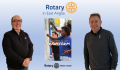 Men with Rotary Club banner_Rotary clubs pledge to raise thousands for EACH