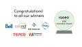 IQGeo awards - winners' logos