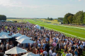 A crowd at Newmarket - the July Racecourse