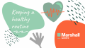keeping a health routine banner