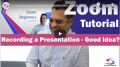 Using Zoom to Record a Presentation Video Thumbnail