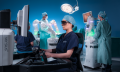 Versius surgical robotic system in operating theatre