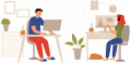 working from home_illustration/ Image by RoadLight from Pixabay