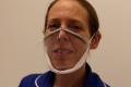 Junior Sister Emma Ayling wearing the mask