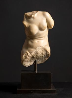 The roman marble torso of Aphrodite, dating back to between 1st century BC and 1st century AD