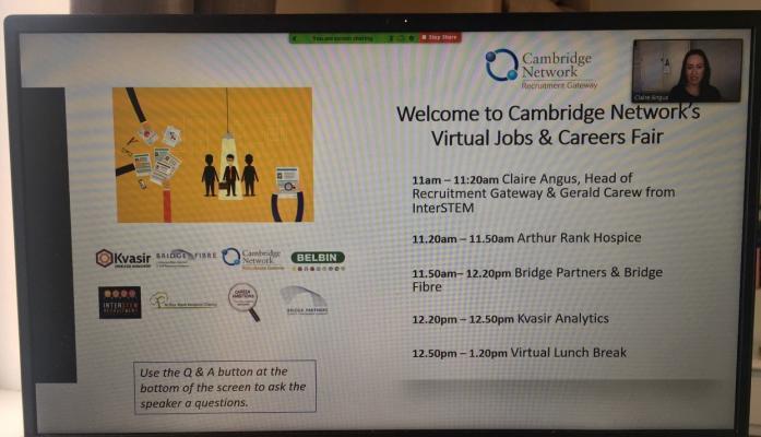 Virtual Jobs and Careers Fair screenshot_July