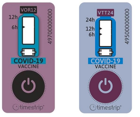 Timestrip  indicators track temperature and time, and will ensure that vaccines are fresh when administered to patients.