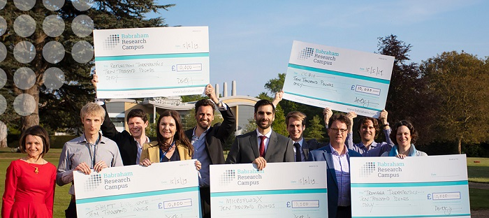 Wimmers_ Accelerate@Babraham start-up competition awarded five ventures a cash prize of £10,000 and access to laboratory and office facilities at the Babraham Research Campus