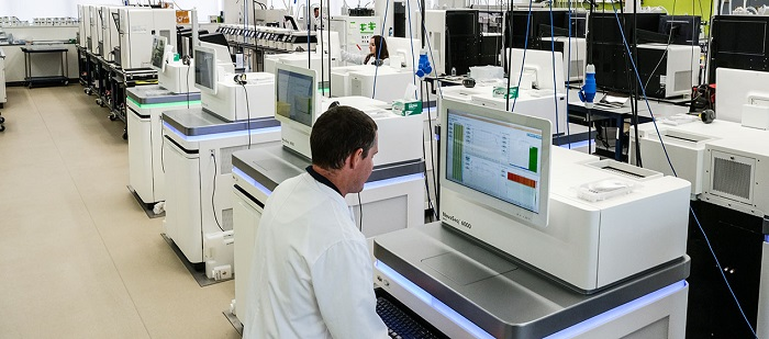 Genome sequencing facility at the Wellcome Sanger Institute  Credit:Wellcome Sanger Institute, Genome Research Limited