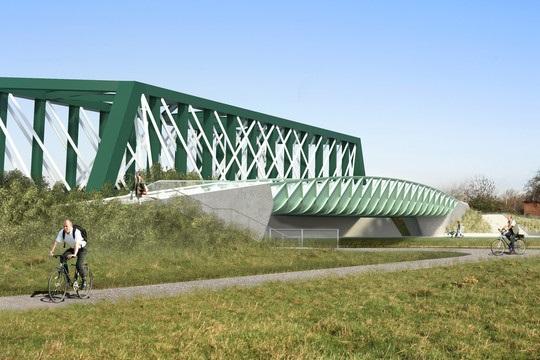 Abbey-Chesterton Bridge: view from Diton Meadows