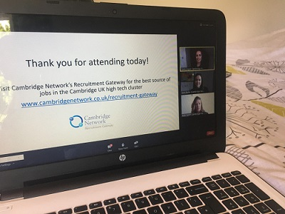 thank you screen on Zoom folliowing Virtual Jobs Fair