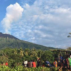 View from Baliau village, Manam  Credit: Emma Liu
