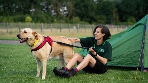 Dog and handler at Wood Green Amimal Shelter