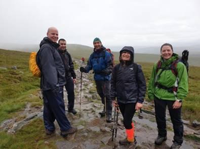 Sepura staff completing the Yorkshire Peaks Challenge